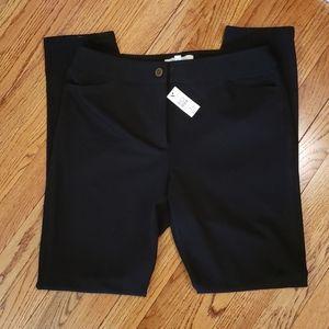 BRAND NEW Talbots black ankle pants.